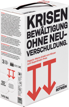 Krisenbox Rot BIO Bag-in-Box - 3 Liter