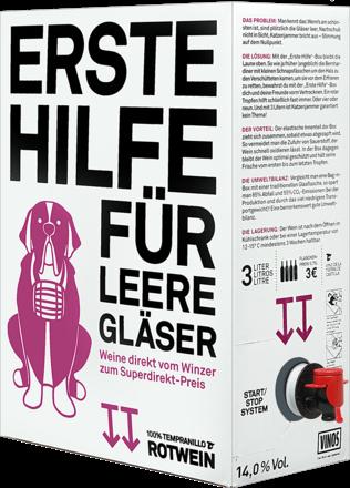 Erste-Hilfe-Box Rotwein - 3 Liter