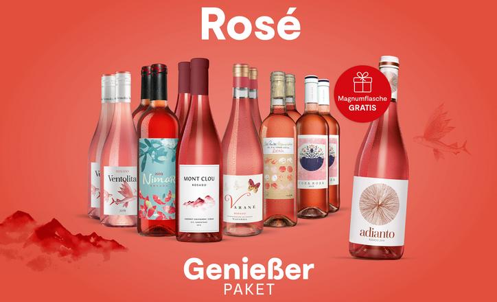 Rosé-Genießer-Paket + GRATIS Magnumflasche