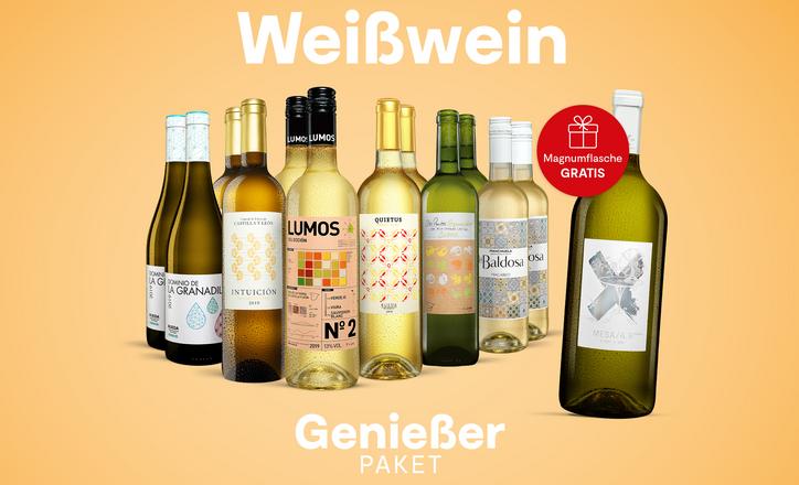 Weißwein-Genießer-Paket: Mit GRATIS* Magnum