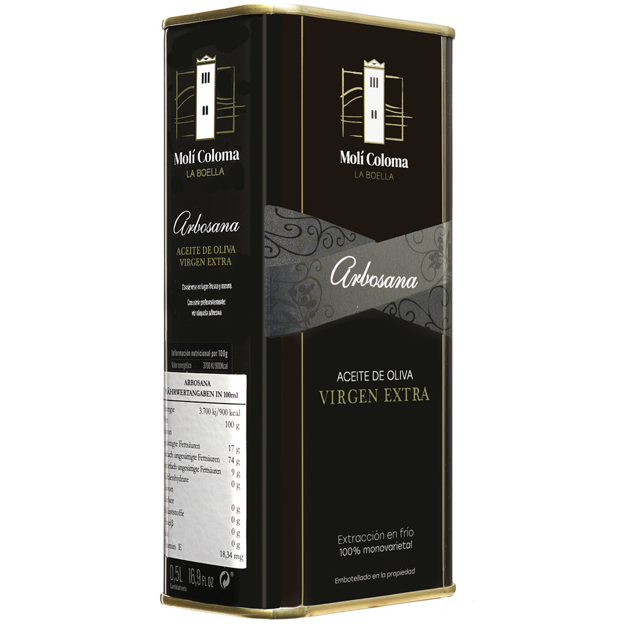 Image of Olivenöl La Boella - »Arbosana« - Dose 0,5 L 0.5L aus Spanien